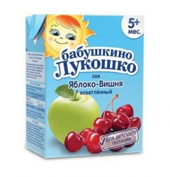 Сок яблочно-вишнёвый осветлённый